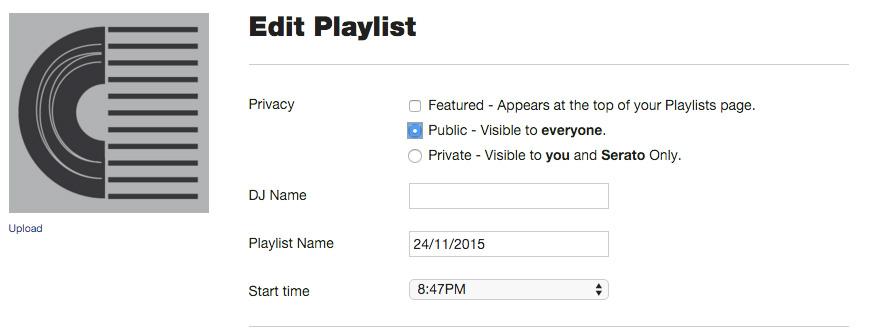 How do I use Serato Live Playlists to autopush tracks to Twitter
